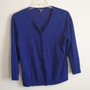 Cable & Gauge Purple Button Up Sweater Large